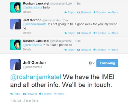 Jeff Gordon HTC Roshan Jamkatel