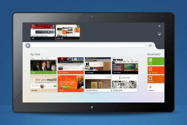 Mozilla Firefox en Windows 8