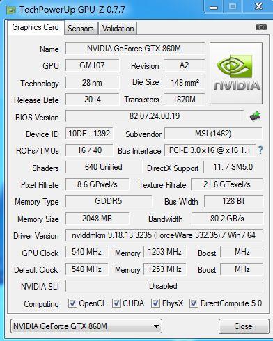 NVIDIA GeForce GTX 860M