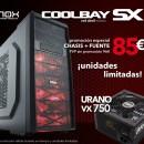 Nox Coolbay SX Red Evil junto a la Nox Urano VX 750 por 85€
