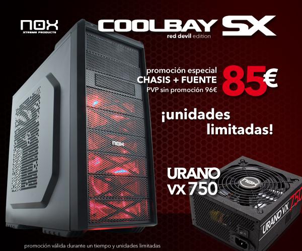 Oferta Nox Coolbay SX Red Edition con Nox Urano VX 750