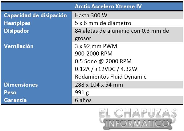 Arctic Accelero Xtreme IV Especificaciones 3