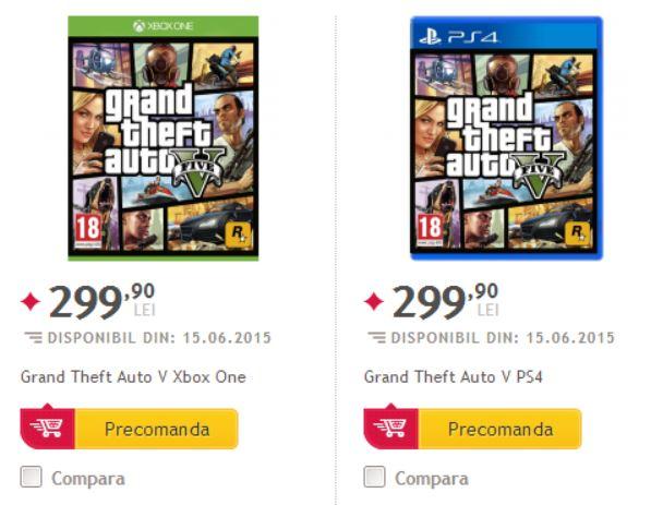 Grand Theft Auto V PlayStation 4 y Xbox One