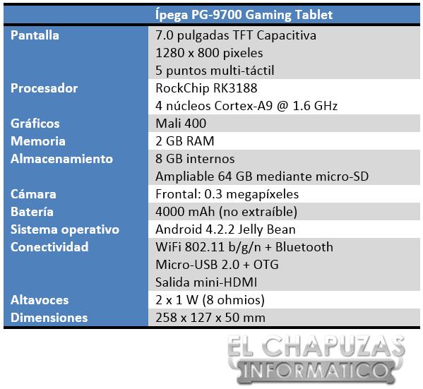 Ípega PG 9700 Especificaciones 2