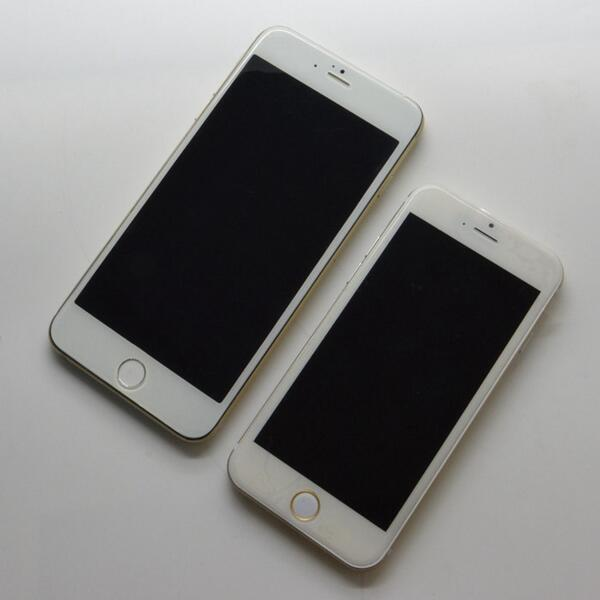 Apple iPhone 6 4.7 vs iPhone 6 5.5 maquetas (1)