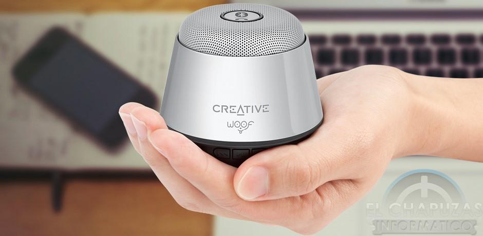 Creative Woof: Micro-altavoz portátil por Bluetooth