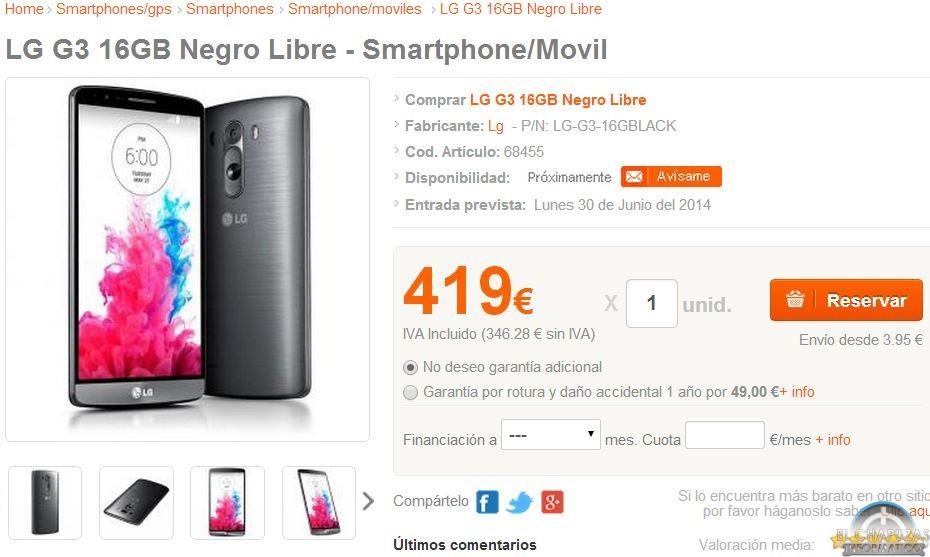 El LG G3 Ve Como Se Reduce Drasticamente Su Precio