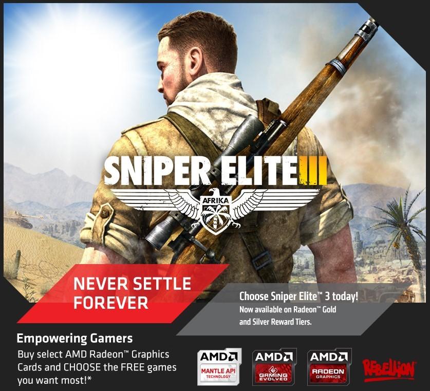 Sniper Elite III gratis con gráficas AMD