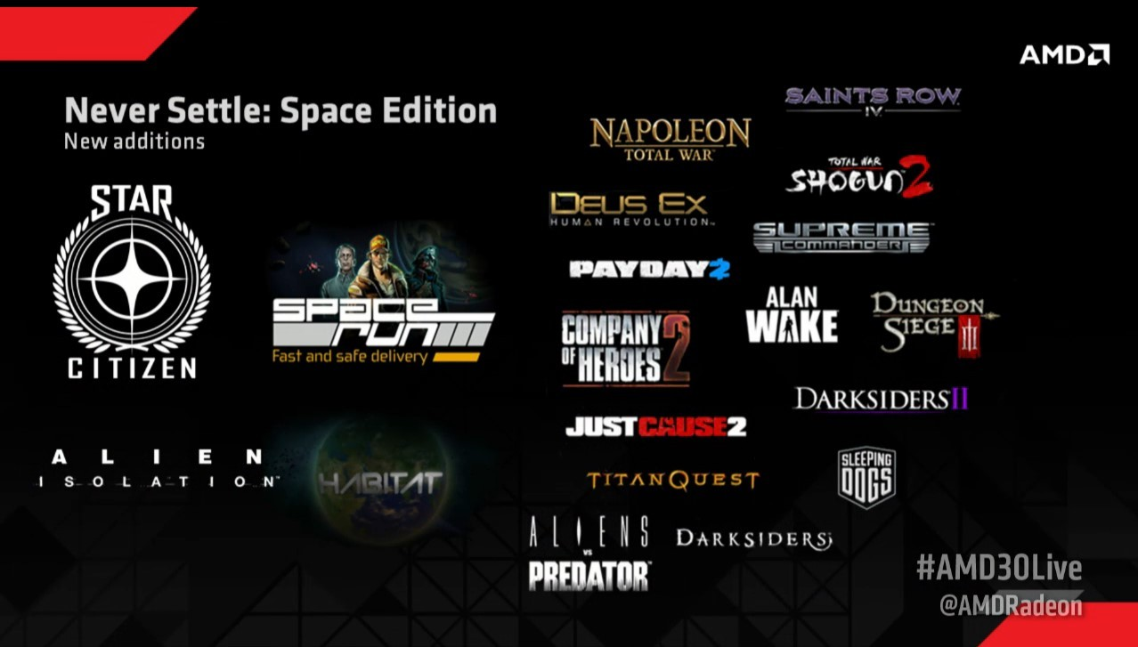 AMD Never Settle Space Edition