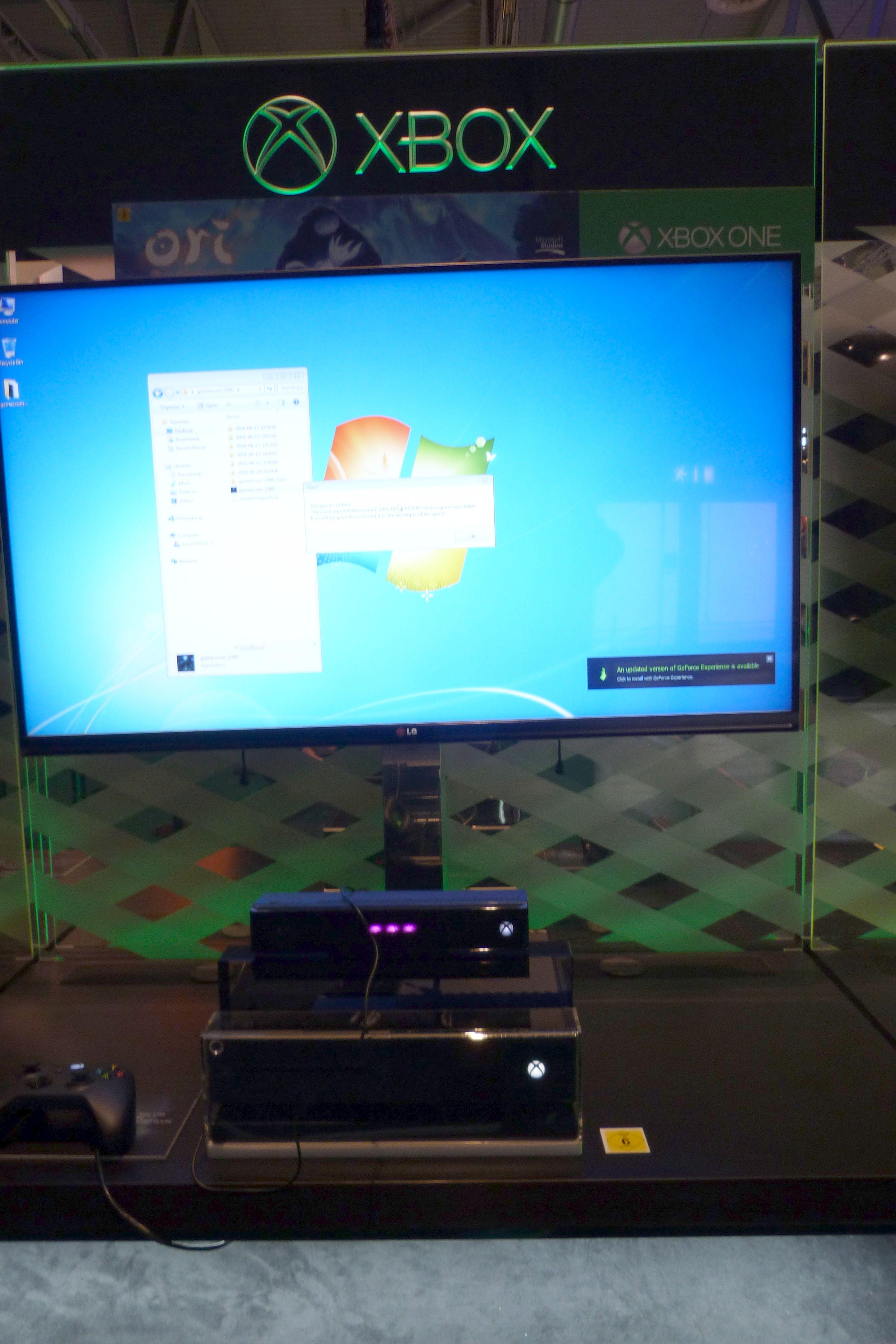 Gamescom 2014 - PC usado como Xbox One (1)