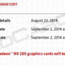AMD Radeon R9 285 a la venta el 2 de Septiembre