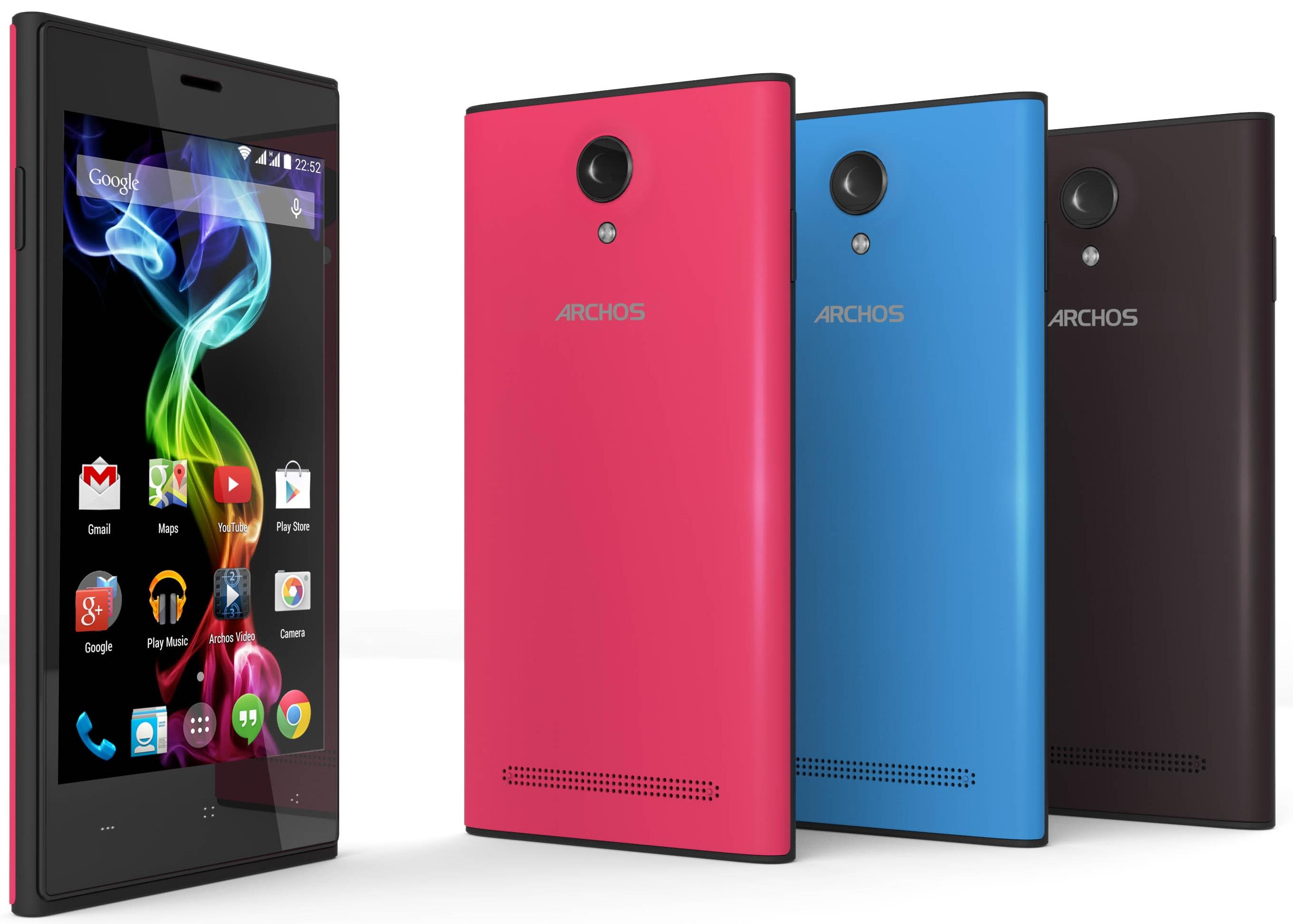 Archos 45c y 50b Platinum, coloridos Smartphones de 4.5 y ...