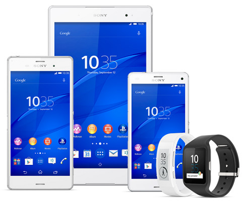 Sony Xperia Z3, Sony Xperia Z3 Compact, Sony Xperia Z3 Tablet Compact