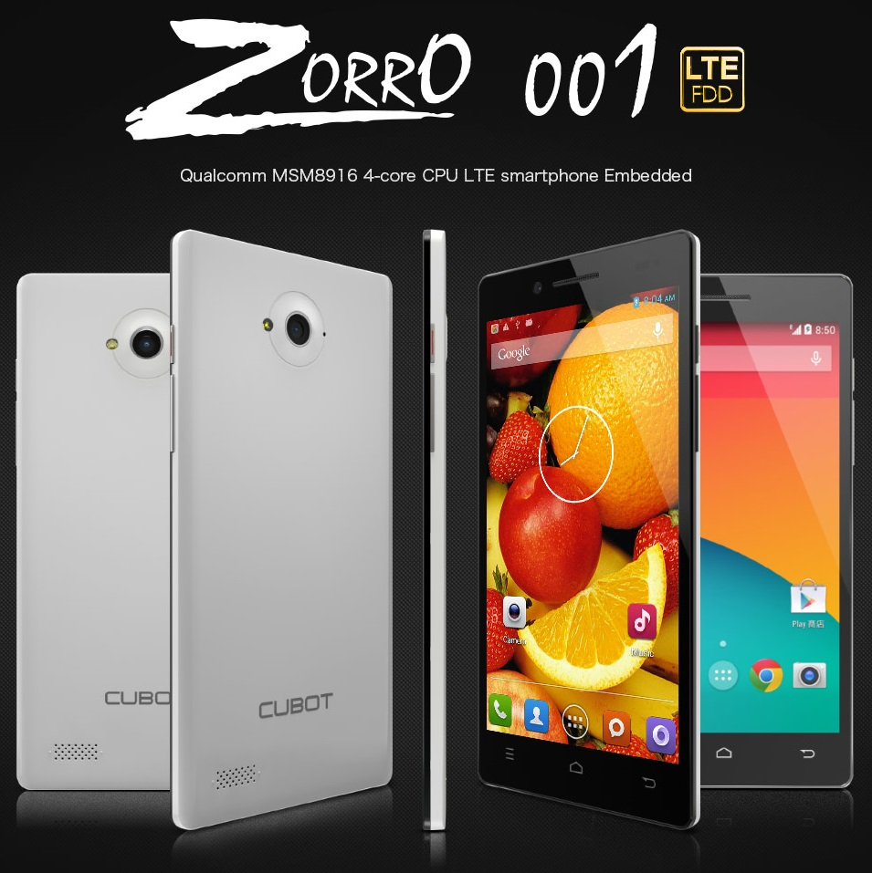 Cubot Zorro 001 - отличный смартфон на snapdragon 410