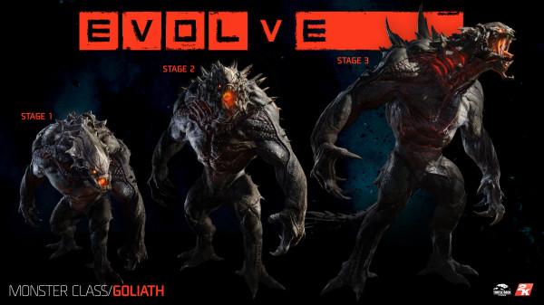 Evolve, evoluciones Goliath