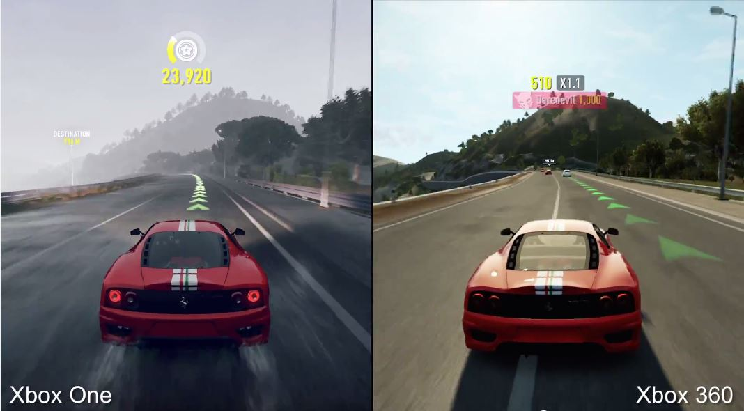 forza horizon 2 en xbox one vs xbox 360 el chapuzas inform tico. Black Bedroom Furniture Sets. Home Design Ideas
