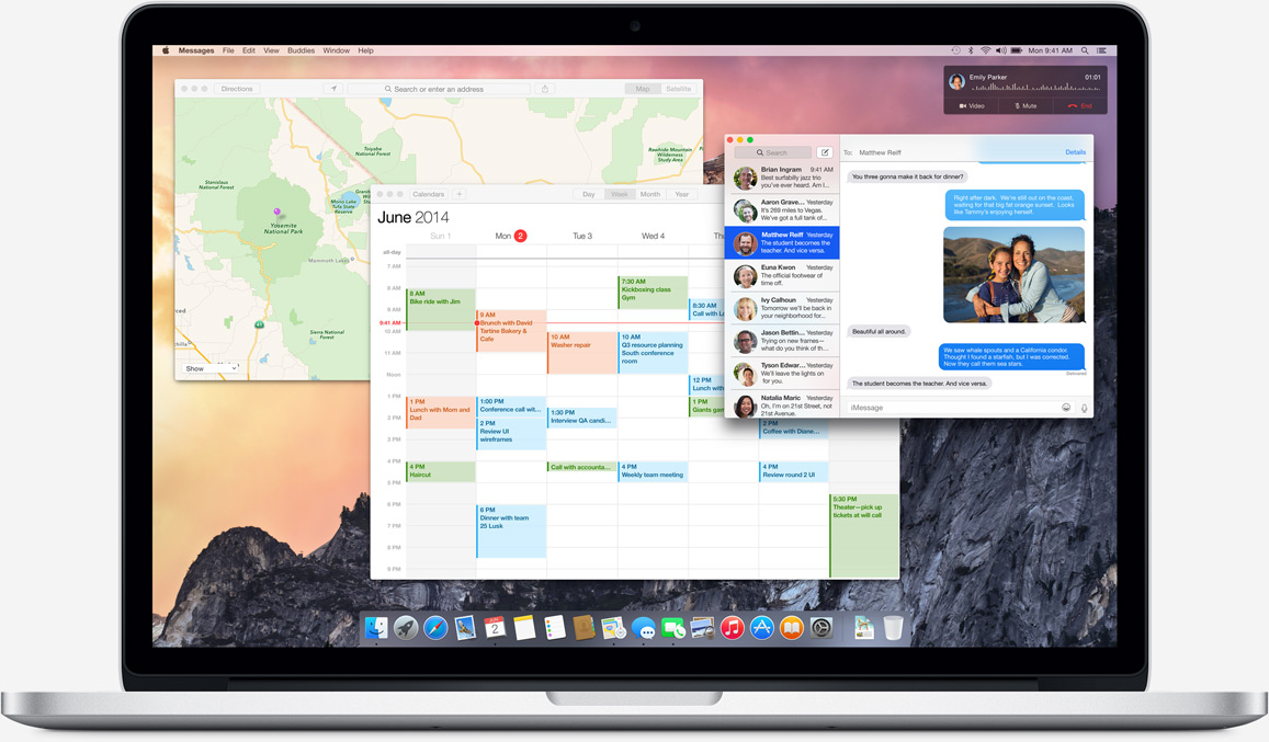 MacBook con OS X Yosemite