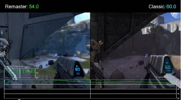 Halo 1 Xbox One vs Hali 1 Xbox 360