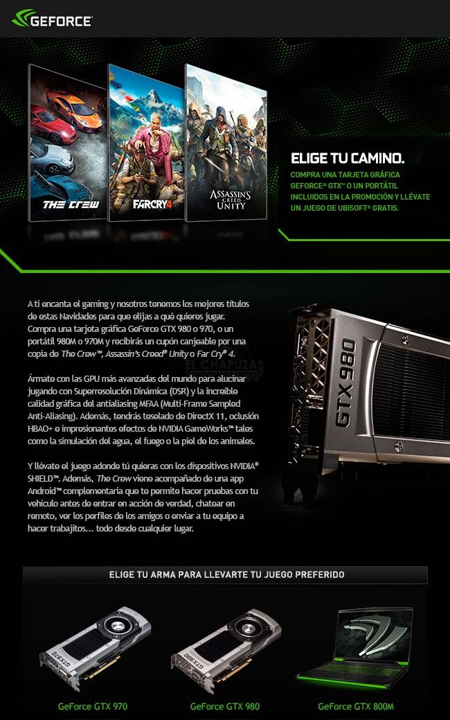 The Crew, Far Cry 4 o AC: Unity gratis con tu Nvidia GeForce