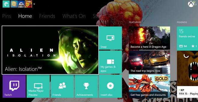 Xbox One actualización Noviembre
