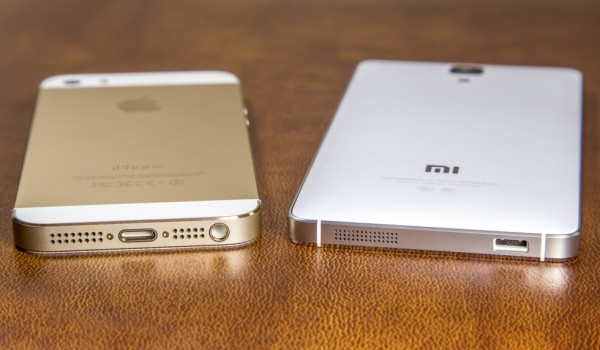 iPhone 5S vs Xiaomi Mi4