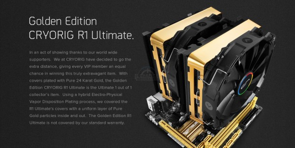 Cryorig R1 Ultimate Golden Edition