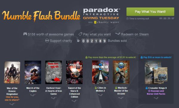 Humble Flash Bundle Paradox Interactive