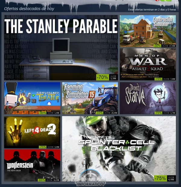 Rebajas Navideñas de Steam 29 diciembre 2014 (1)