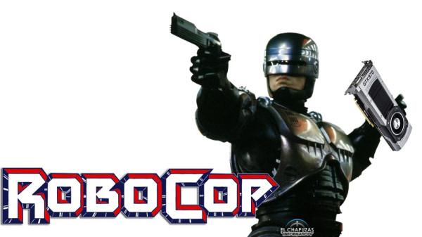 Robocop con la prueba del crimen