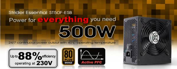 SilverStone Strider Essential 80+ Bronze Oficial