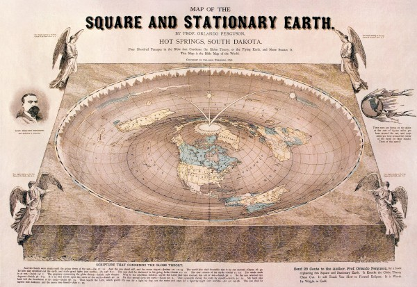 square and stationary earth Tierra plana