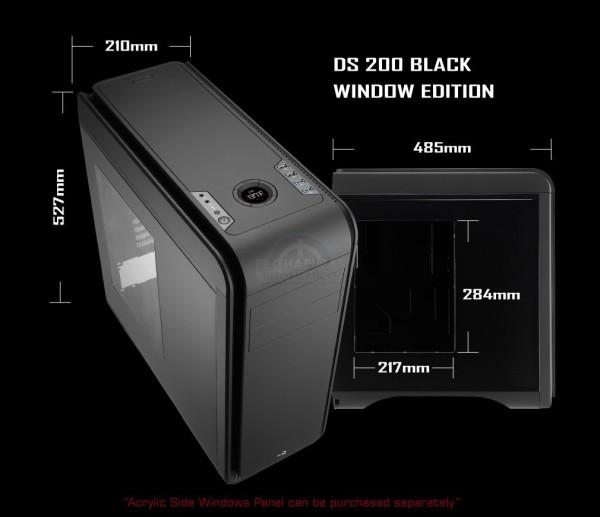 AeroCool DS200 Black Window Edition (1)