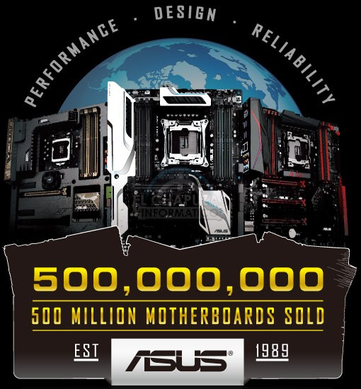 Asus 500 millones de placas base