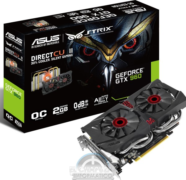 Asus Strix GeForce GTX 960 STRIX-GTX960-DC2OC-2GD5 (1)