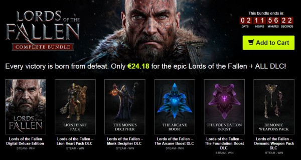 Lords of the Fallen Bundle Stars
