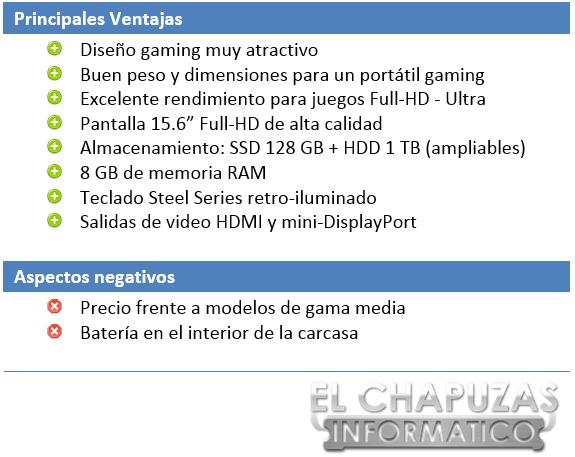 MSI GE62 2QE Apache Aspectos