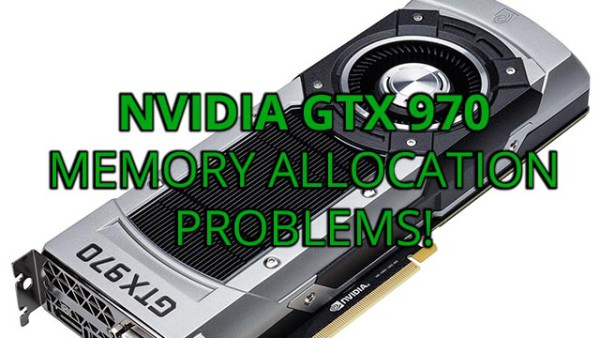 Nvidia GeForce GTX 970 Memory Allocation Problems