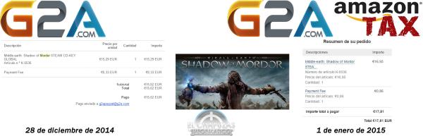 Shadow of Mordor sin-con Tasa Amazon
