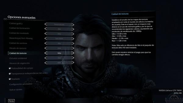 Sombas de Mordor 6GB VRAM