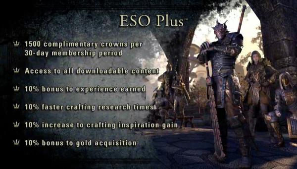 The Elder Scroll Online ESO Plus
