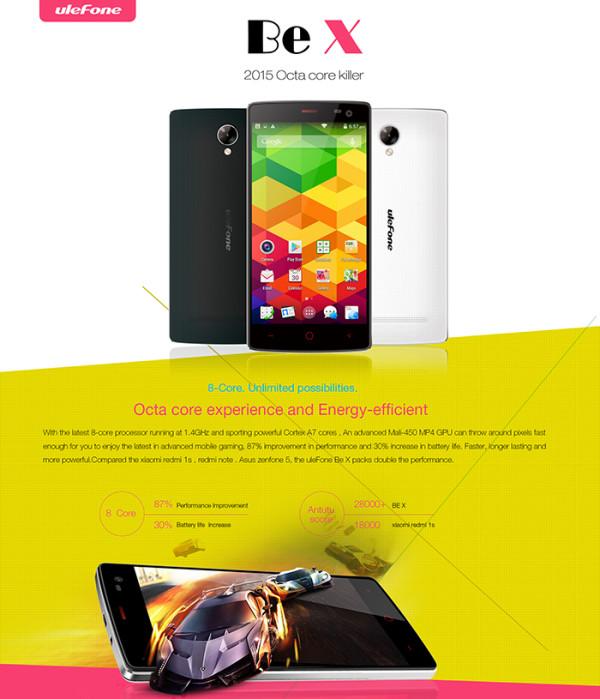 Ulefone Be X vs Xiaomi Redmi 1S