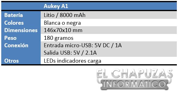 Aukey A1 Especificaciones