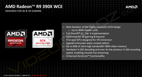 AMD Radeon R9 390X WCE diapositiva