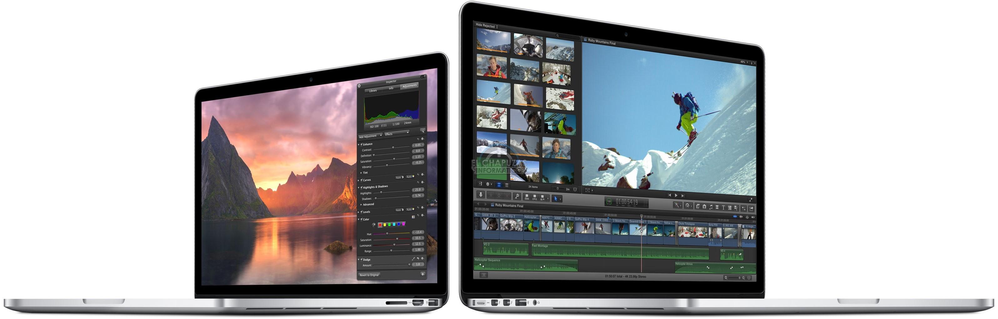 Apple MacBook Pro Retina y MacBook Air 2015