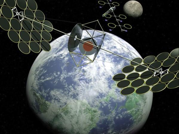 China planea fabricar una central solar en el espacio