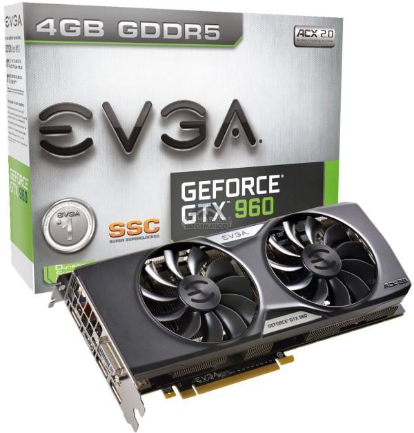 EVGA GeForce GTX 960 SSC 4GB