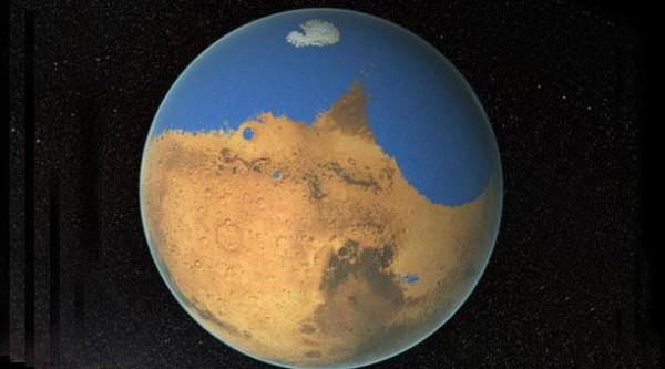 Marte con océano