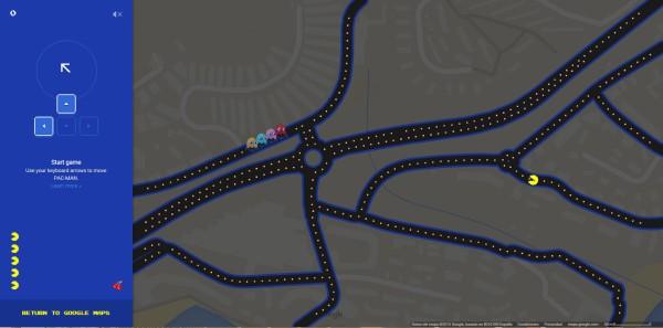 Pac-MAN Google Maps Las palmas