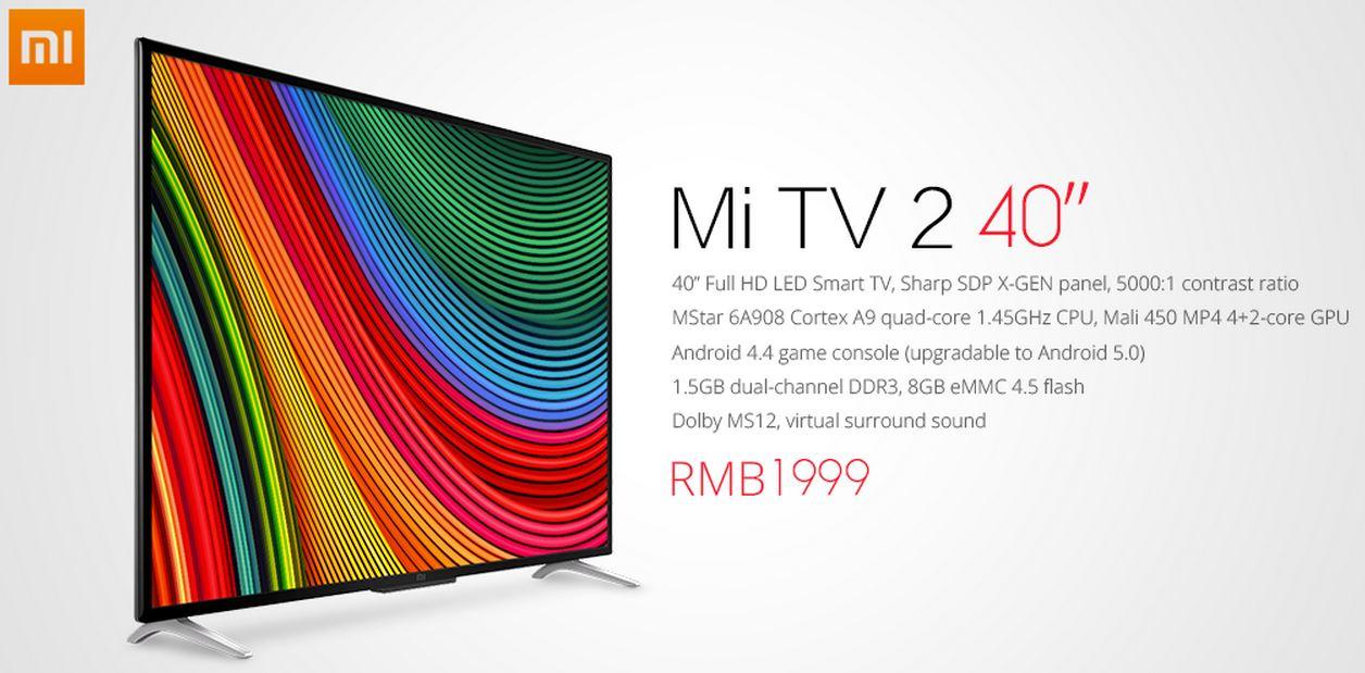 Xiaomi Mi TV 2: El nuevo televisor de Xiaomi que llega por 295€