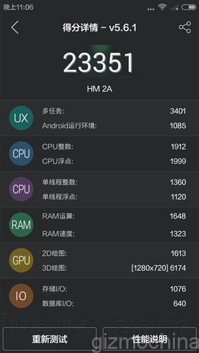 Xiaomi Redmi 2A vs Xiaomi Redmi 2 AnTuTu 1 2
